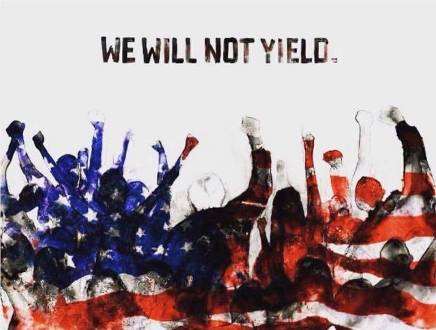We will not yield!